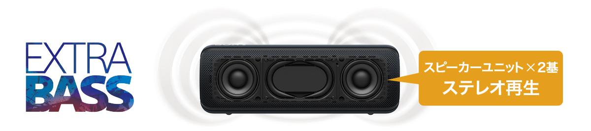 SRS-XB32スピーカー2搭載